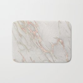 Marble Rose Gold Blush Pink Metallic by Nature Magick Bath Mat