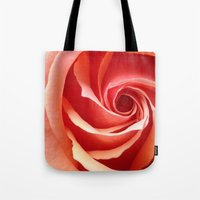aperture Tote Bags featuring Rose Aperture by Lita Mikrut