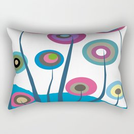 Artsy and Funky Floral Art Rectangular Pillow