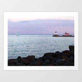 Superior Lighthouse Art Print