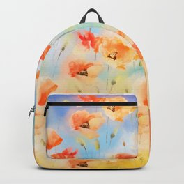 Summer Poppy Pattern Backpack