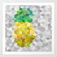 Pineapple! Art Print