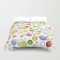 circles Duvet Covers featuring Circles by victimArte