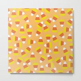 Candy Corn Jumble (light orange background) Metal Print