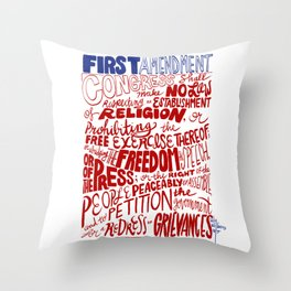 The First Amendment Throw Pillow