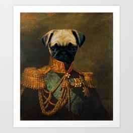 Sir Pugsly Art Print