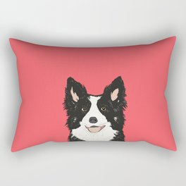 Montana - Border Collie gifts for dog people and dog lovers perfect gifts for a dog person.  Rectangular Pillow