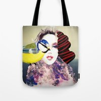 no face Tote Bags featuring Face by Cs025
