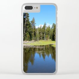 Morning Serenity At The Yellowstone NP Clear iPhone Case