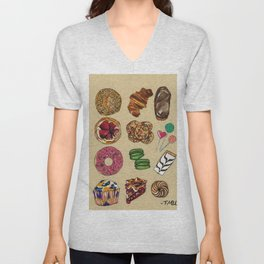 Pastries Unisex V-Neck