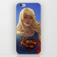 supergirl iPhone & iPod Skins featuring Supergirl by maltairs