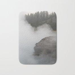 Sunrise mist at Yellowstone National Park Bath Mat