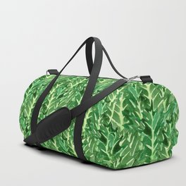 Holly Jolly Leaves (Small Pattern) Duffle Bag