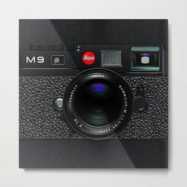 Leica Camera M9 Black Metal Print