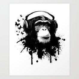 Monkey Business - White Art Print