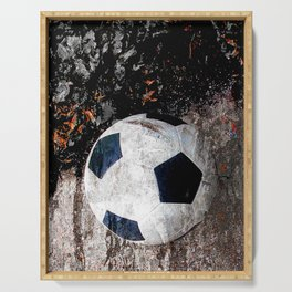 The soccer ball Serving Tray