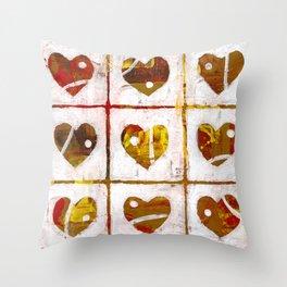Nine hearts Throw Pillow