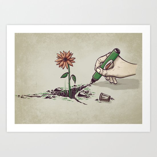 Nature Pen Art Print
