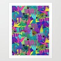the city is a jungle Art Print