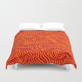 orange red flow Duvet Cover