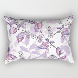 Bird Cherry blossoms Rectangular Pillow