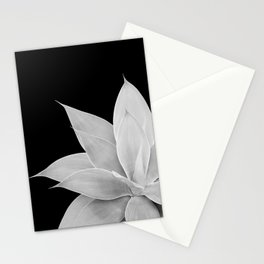 Gray Agave on Black #2 #tropical #decor #art #society6 Stationery Cards