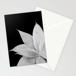 Gray Agave on Black #2 #tropical #decor #art #society6 Stationery Cards
