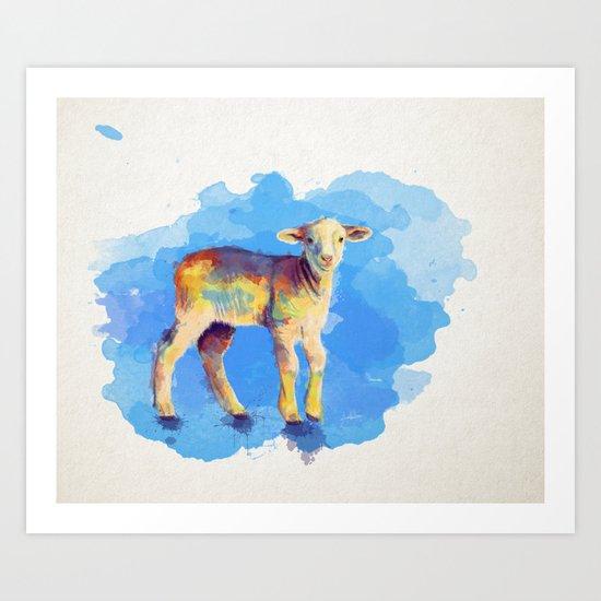 Litte Lamb Art Print