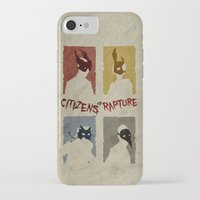 bioshock iPhone & iPod Cases featuring Bioshock - Citizens of Rapture by Art of Peach