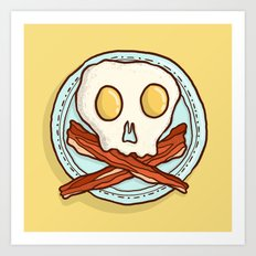 Pirate Breakfast Art Print