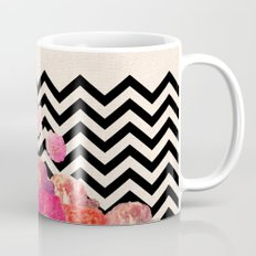 Chevron Flora II Coffee Mug