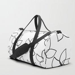 Plumeria Frangipani Tropical Flowers Summer Floral Pattern Duffle Bag
