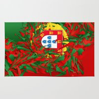 portugal Area & Throw Rugs featuring Portugal by Danny Ivan