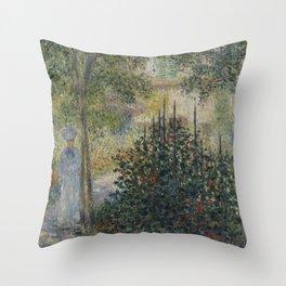 Camille Monet in the Garden at Argenteuil Throw Pillow