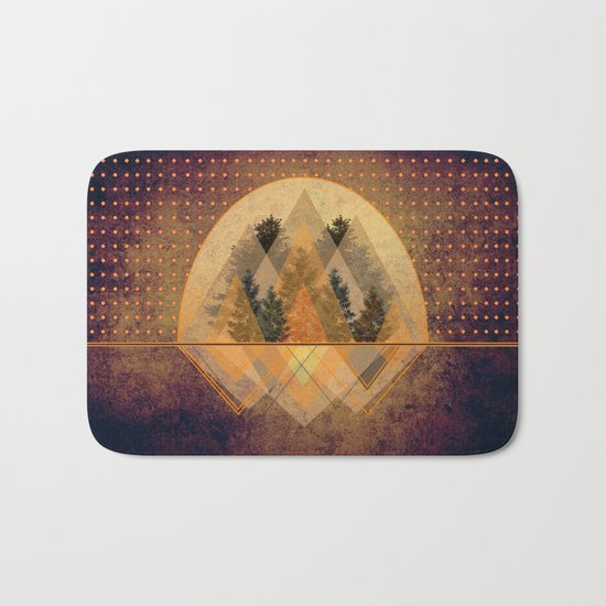 try again tree-angles mountains Bath Mat