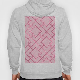 Bamboo Chinoiserie Lattice in Pink + Bubblegum Pink Hoody