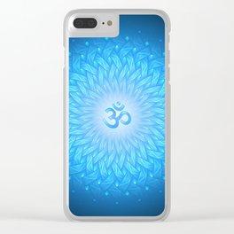 Cosmic mandala. Shanti Om Clear iPhone Case