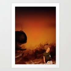 Forgotten sunrise Art Print