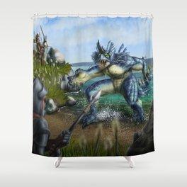 Lake Monster Shower Curtain