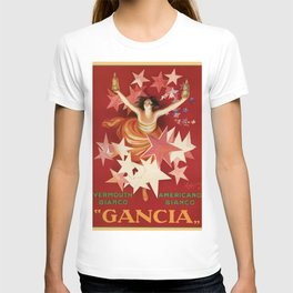Vintage 1921 Italian Gancia Vermouth Advertisement by Leonetto Cappiello T-shirt