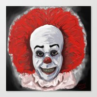 pennywise Canvas Prints featuring Pennywise by mark lawson5