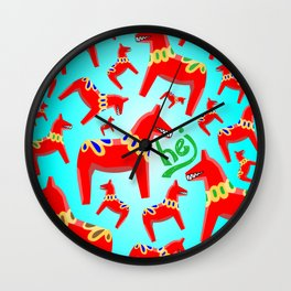 Hej! Horses Wall Clock