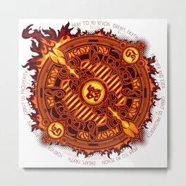 Ifrit Seal Metal Print