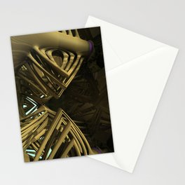 Mezzo-Cosmic Standard 1.1 (3D Fractal Digital Art) Stationery Cards