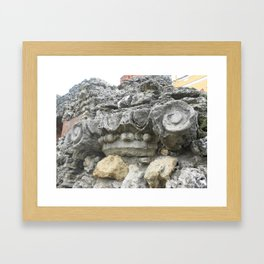 Stone curl Framed Art Print