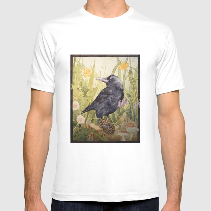 b3620079 Canuck the Crow T-shirt by ashleyroseillustration
