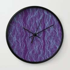 Blue threads Wall Clock