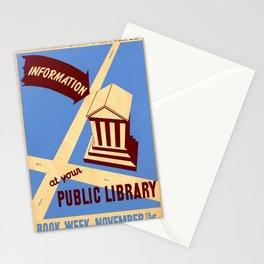 Vintage poster - Book Week Stationery Cards