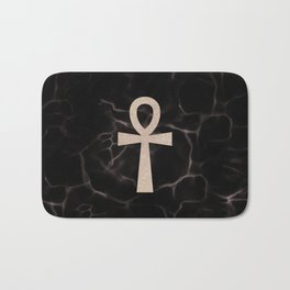 Black Marble Ankh + Donation to the American Cancer Society Bath Mat