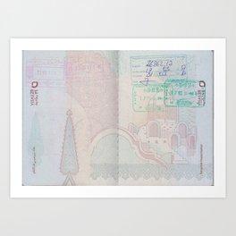Passport Art Print